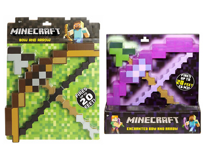 Cosplay Minecraft Toys Brown Purple Bow And Arrow Model PVC Figures Kid's Toy