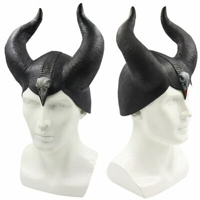 Maleficent Horns Hat Evil Black Queen Headpiece Headwear Halloween Cosplay Props