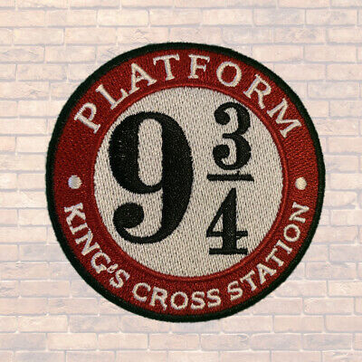 1pc Platform 9 3/4 Harry Potter Embroidered Patch Cloth Iron On Applique #1587