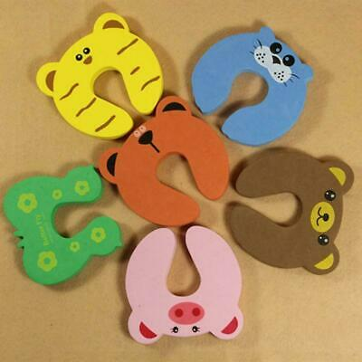 1pcs Children Baby Safety Cartoon Security Door Stopper Clamp H Clip Pinch E3F7