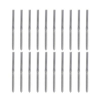 20 Pack Left & Right Hand Thread Lag Screws for 1/8 Inch Cable Railing Stai Q3C9