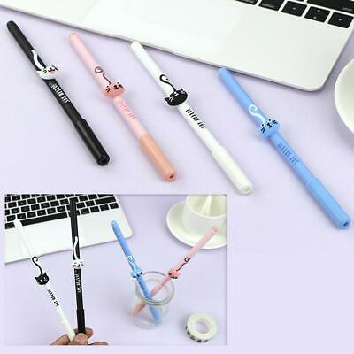 1//2//5//10pcs Cute Cat Tail Gel Pen 0.5mm Black Ink Office Stationery Student NEW