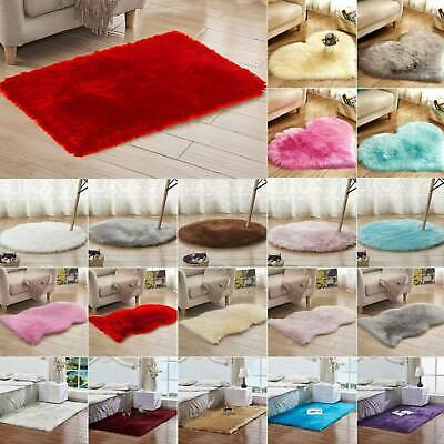 Washable Fluffy Rug Anti-Skid Shaggy Area Carpet Living Room Playroom Floor Mat