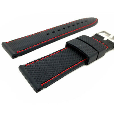 18/20/22/24mm Grid Sport Silicone Watch Band Watchbands Rubber Strap Waterproof_