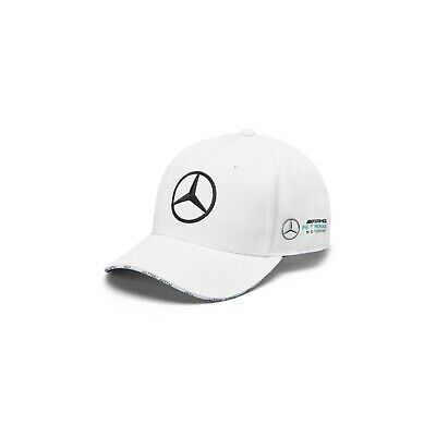 NEW 2019 Mercedes AMG F1 Team MENS Valtteri Bottas WHT Baseball Cap Hat OFFICIAL