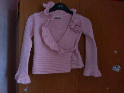 girls pink cardigan/jacket from cherokee age 5-6 used in good conditon