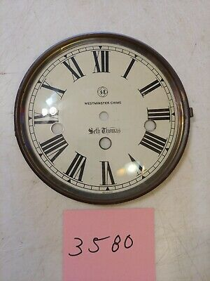 Seth Thomas Tambour  Mantle Clock Westminster Chimes Dial & Bezel & Glass
