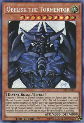 Yugioh Obelisk the Tormentor Prismatic Secret Rare TN19 Mint