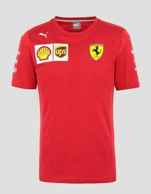 NEW 2019 Scuderia FERRARI F1 Team T Shirt Tee MENS Red Vettel, Leclerc OFFICIAL