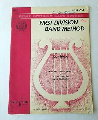 Oboe First Division Band Course Part One Lessons 1968 Belwin Mills