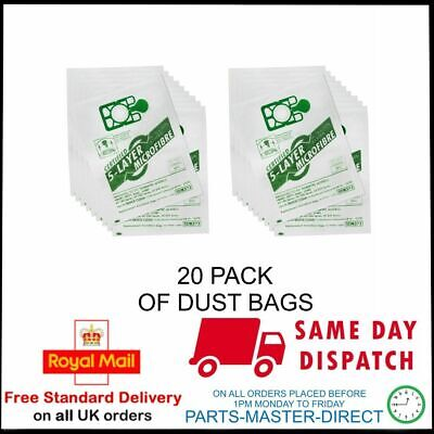 Fits All Numatic Henry Hvr200 & Hetty Vacuum Cleaner Cloth Dust Bags 20 Pack