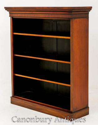 Antique Mahogany Open Bookcase Openfront Circa 1860