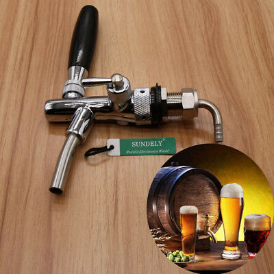 Brand New Adjustable Draft Beer Faucet With G5/8 thread For Kegerator Tap UK