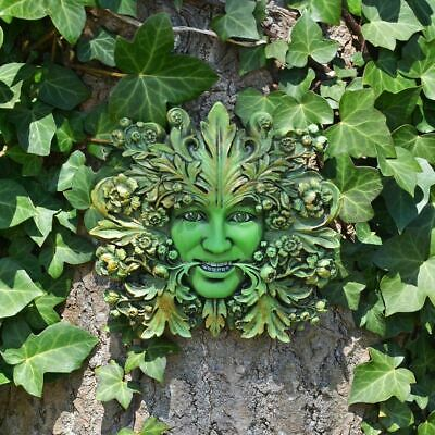 Green Goddess Green Woman Greenman Decorative Garden Wall Plaque Ornament