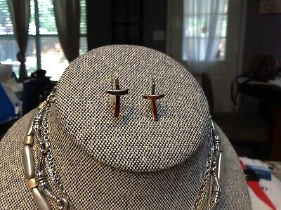 Retired James Avery 14k yellow gold ear hooks Cross