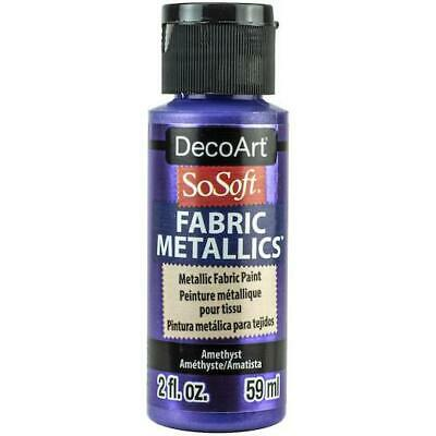 DecoArt SoSoft Metallic Acrylic Fabric Paint 59ml (2oz)