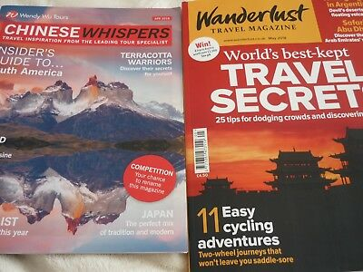 wanderlust travel magazine may 2018 & chinese whispers april 2018