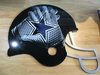 Custom metal sign Dallas Cowboys  Helmet