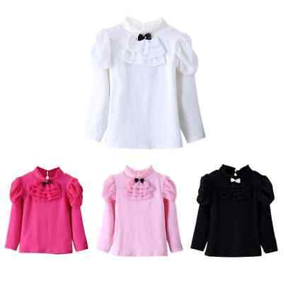 Girls Autumn Top Long Sleeve Shirt Kids Winter Casual Tops Blouse Age 2-7 Years