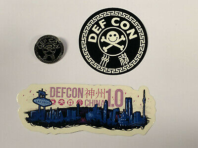 DEF CON China DCCN 1.0 Sticker pack & pin
