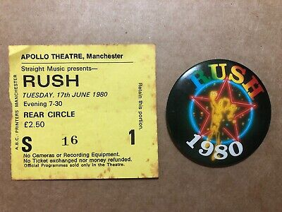 RUSH CONCERT TICKET Stub-2004-30th Anniversary Tour-DTE