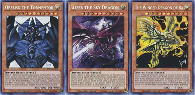 Yugioh | Egyptian God 3 Card Set - Prismatic Secret Rare - TN19-EN007-9