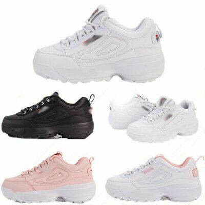FILA-Women Mens Unisex Sneakers Sports Fitness Casual Trainers Breathable Shoes