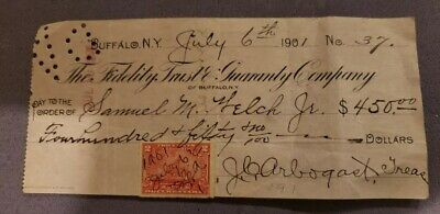 Cancelled Check The Fidelity Trust Guaranty The Third National Bank 1901