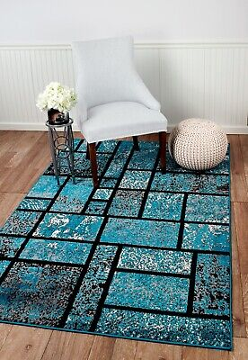 area rug Smt#38 Brown bold wave pattern soft pile size options 2x3 3x5 5x7 8x11