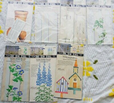 Stencil Ease Home Decor Stencil lot  garden delight d-412 D-414 D-402 400 404
