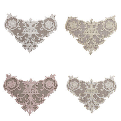 Floral Applique Lace Embroidery Trim Sewing Motif Wedding Bridal Craft DIY Patch