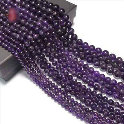 8mm Natural Amethyst Loose Beads Making Jewelry 15 inches Wholesale Styles Lots