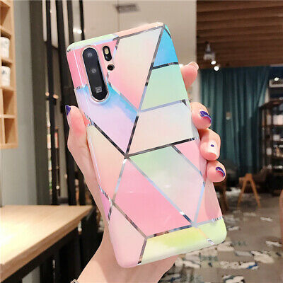 Plating IMD Pattern Rubber Soft Cover Case For Huawei P30 Pro P20 Mate 20 Lite