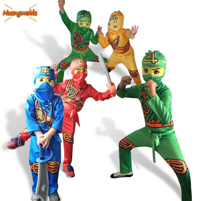 Stealth Ninja Ninjago Cosplay Costume Fancy Dress Party Halloween Child Kid Boy