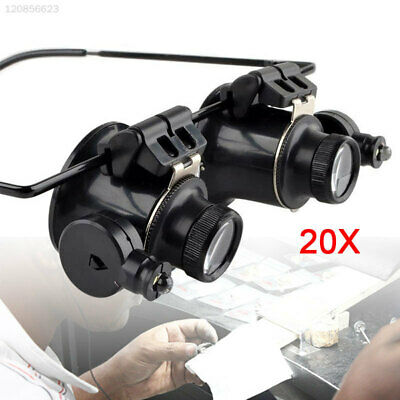 E0AC New Product 20x Magnifying Eye Magnifier Glasses Loupe Lens LED Light