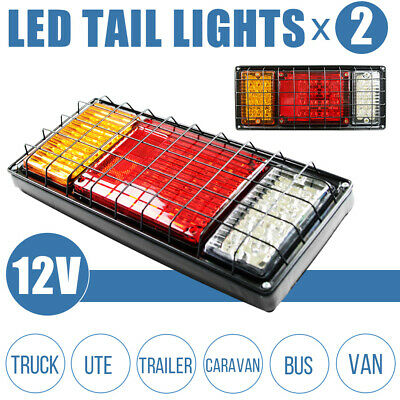 2X88 LED Tail Lights Ute Trailer Caravan Truck Stop Indicator rear LAMP 12V AU