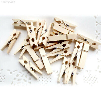 EB3E 50Pcs/Pack Photo Clip Wooden Supplies Hobbeis Peg Clothes Dormitory Holder