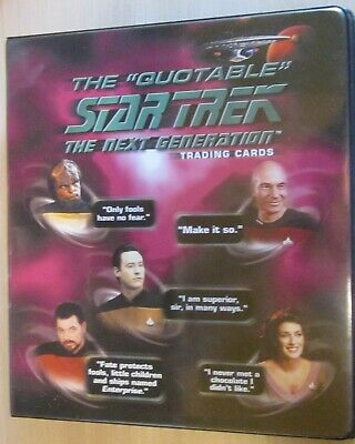 Tradingcard Album - ST TNG Quotable + Autogramm card + BP Promo - Rittenhouse