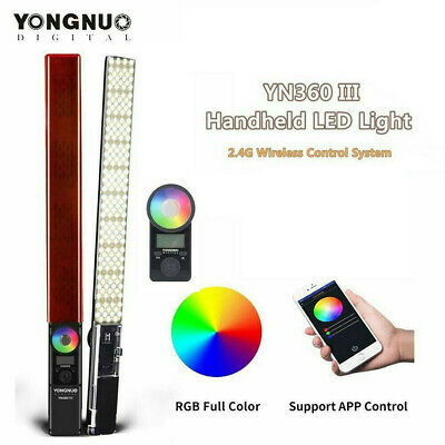 YONGNUO YN360 III LED Video Light CRI 95+ Full Color RGB Bicolor 3200K-5500K