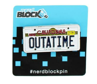 """Back To The Future """" Outatime """" Plaque Immatriculation Émail Collector Broche"""