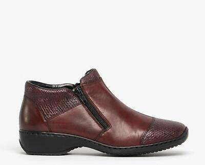 RIEKER 75585 30 LADIES Red Leather Ankle Boots EUR 77,67