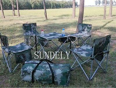 Camouflage Chair Table FOLDING PICNIC/CAMPING/BBQ BANQUET/PARTY/MARKET/GARDEN UK