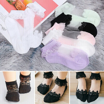 Soft Solid Color Lace Newborn Hosiery Kids Sock Toddler Girls Ankle Baby Socks
