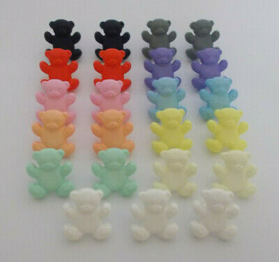 8 x Teddy Shape Baby Buttons Shank Buttons 15mm Childrens Novelty Buttons
