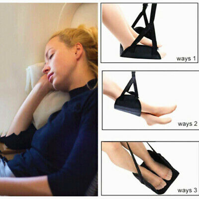 Portable Airplane Travel Footrest Hammock Comfy Hanger Office Foot Rest