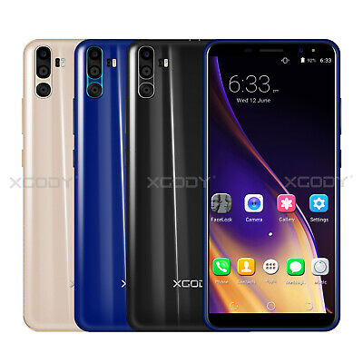 "6"" Cheap Unlocked Android 7.0 Mobile Smart Phone Quad Core Dual SIM Phablet New"