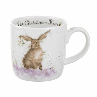 Royal Worcester - Wrendale Designs Christmas with a Kiss Mug (Set of 4)