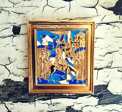 Russian Orthodox Old Believer icon Entrance Lord into Jerusalem - metal icon