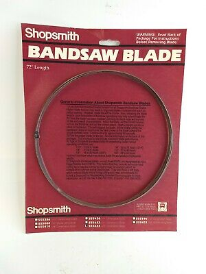 "Shopsmith Shop Smith 1/4"" Combination Bandsaw Blade 555633 New 72 inch"