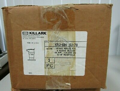 Hubbell Killark KRJ-604 SU-78 Explosion Proof Pin & Sleeve 3W-4P Receptacle